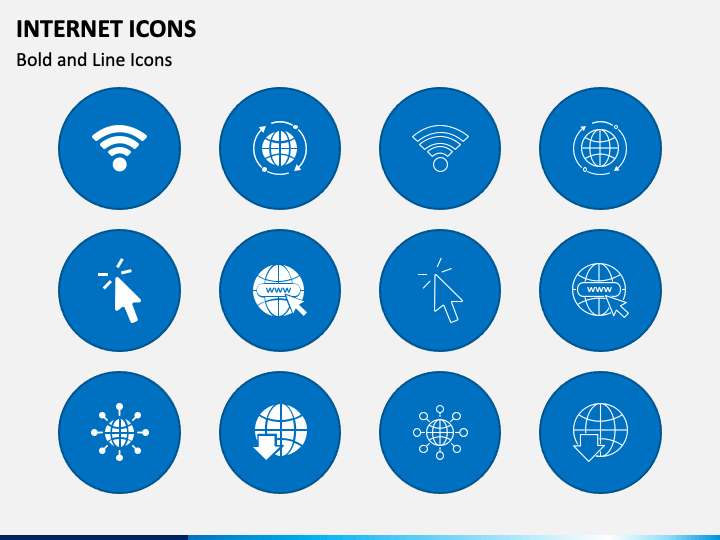 Internet Icons PPT Slide 1