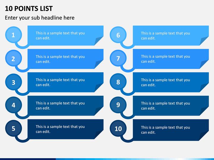 10 Points List PPT Slide 1
