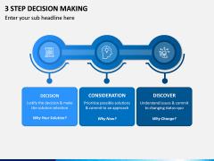 3 Step Decision Making PPT Slide 1
