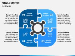 Puzzle Matrix PPT Slide 1