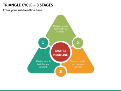 Triangle Cycle - 3 Stages PPT Slide 2
