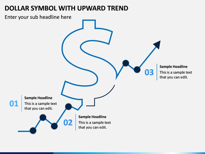 Dollar Symbol With Upward Trend PPT Slide 1