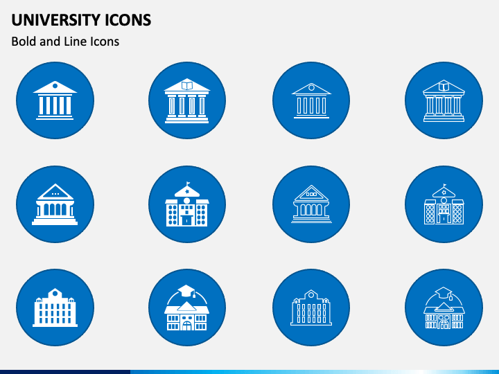 University Icons PPT Slide 1