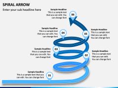 Spiral Arrow Infographics PPT Slide 2