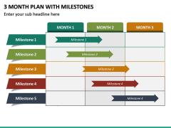3 Month Plan with Milestones PPT Slide 4
