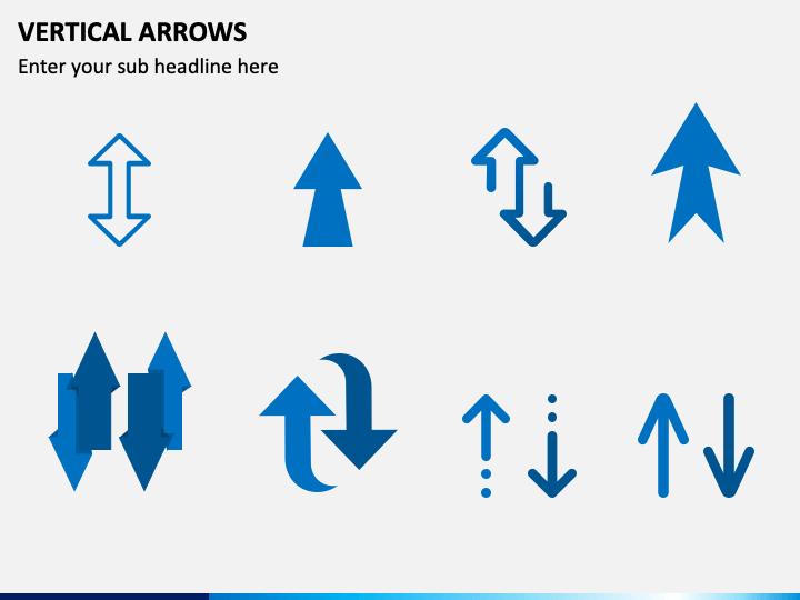 Vertical Arrow PPT Slide 1