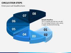 Circle Stair Steps PPT Slide 3