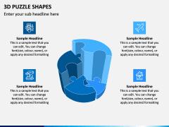 3D Puzzle Shapes PPT Slide 1