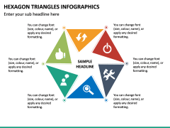 Hexagon Triangles Infographics PPT Slide 2