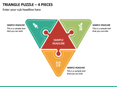 Triangle Puzzle - 4 Pieces PPT Slide 2