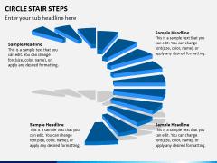 Circle Stair Steps PPT Slide 2