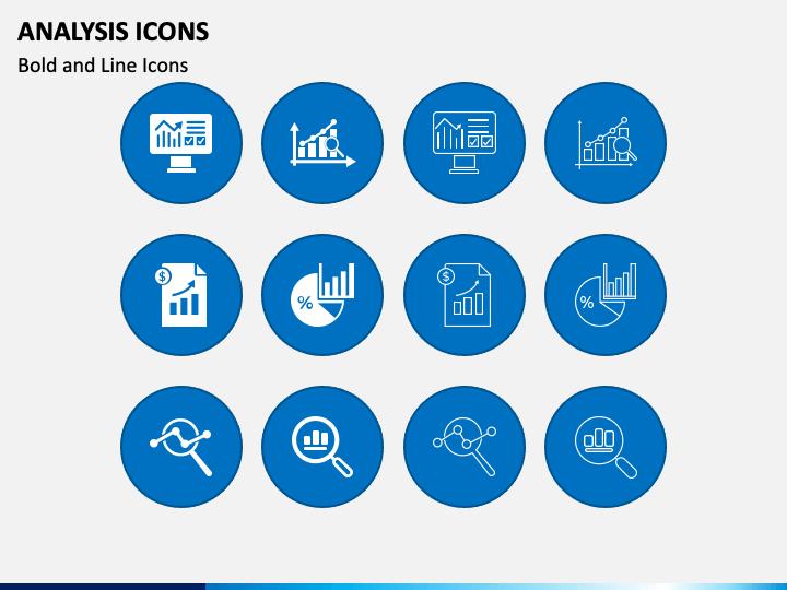 Analysis Icons PPT Slide 1