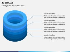 3D Circles PPT Slide 3