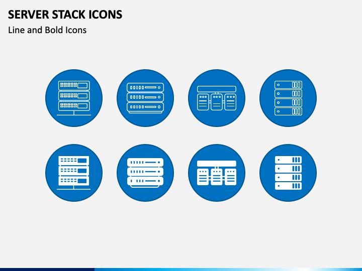 Server Stack Icons PPT Slide 1