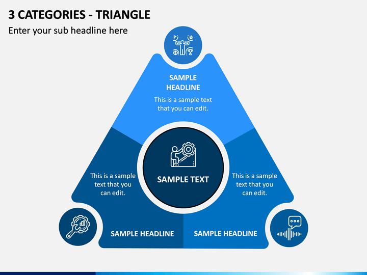 3 Categories - Triangle PPT Slide 1
