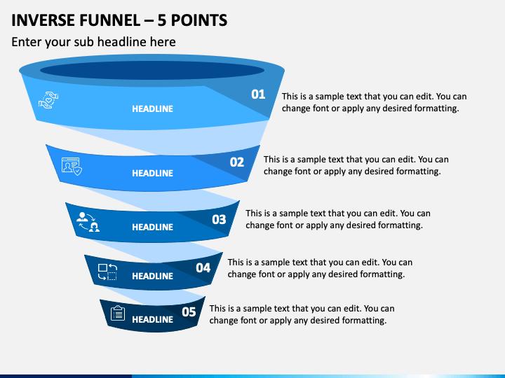 Inverse Funnel 5 Points Slide 1