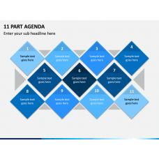 11 Part Agenda PPT Slide 1