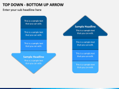 Top Down Bottom Up Arrow PPT Slide 8