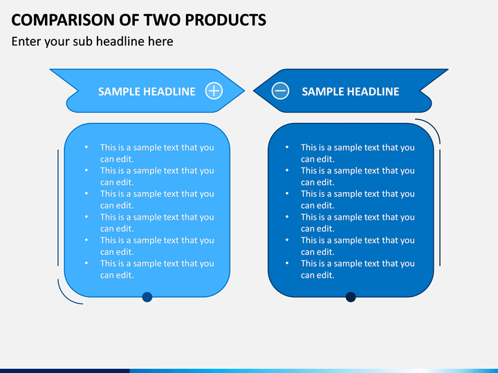 Comparison Of Two Products PPT Slide 1