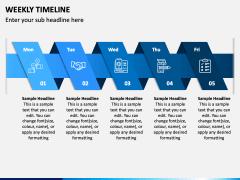 Weekly Timeline PPT Slide 2