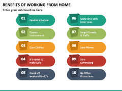 Benefits of Working From Home PPT Slide 3