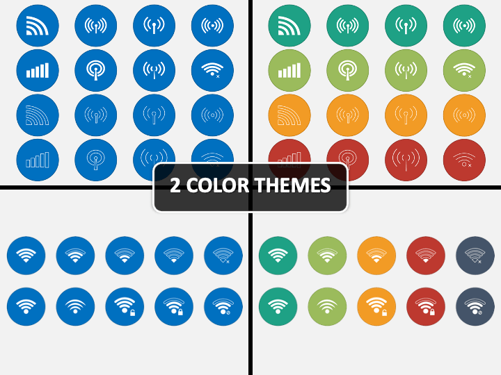 Wifi And Wireless Icons PPT Cover Slide