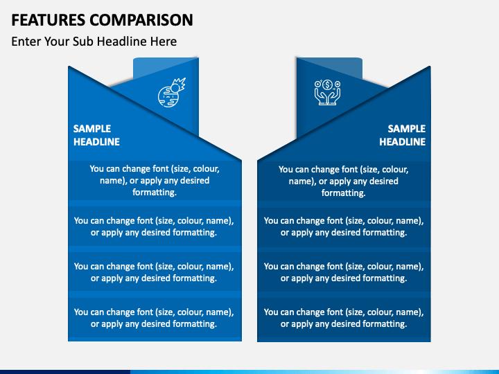 Features Comparison Free PPT Slide 1