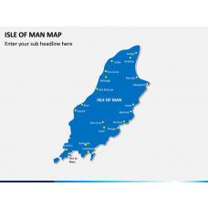 Isle of Man Map PPT Slide 1