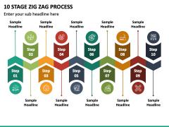 10 Stage Zig Zag Process PPT Slide 2