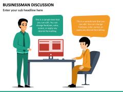 Businessman Discussion PPT Slide 4