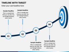 Timeline With Target PPT Slide 6