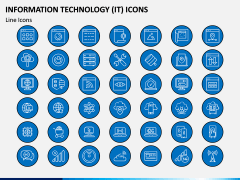 Information Technology (IT) Icons PPT Slide 1