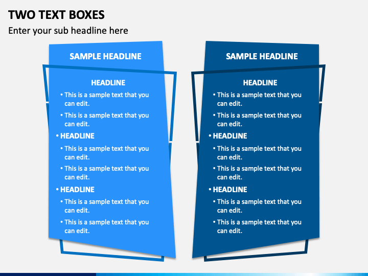 Two Text Boxes - Free PPT Slide 1
