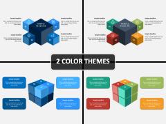 3D Cube Diagram PPT Cover Slide