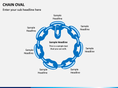 Chain Oval PPT Slide 7