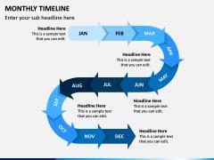 Monthly Timeline PPT Slide 2