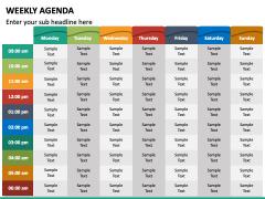 Weekly Agenda PPT Slide 3