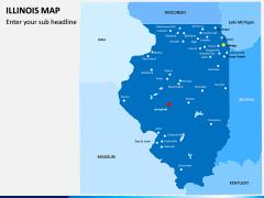 illinois Map PPT Slide 2