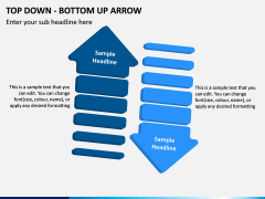 Top Down Bottom Up Arrow PPT Slide 5