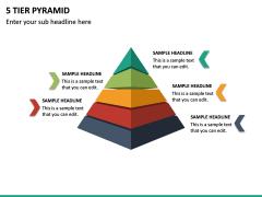 5 Tier Pyramid PPT Slide 2