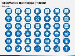 Information Technology (IT) Icons PPT Slide 7