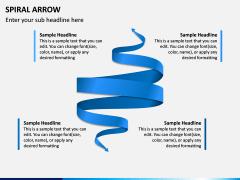 Spiral Arrow Infographics PPT Slide 4