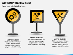 Work in Progress (WIP) Icons PPT Slide 6