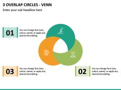 3 Overlap Circles - Venn PPT Slide 2