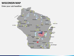 Wisconsin Map PPT Slide 3