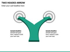 Two Headed Arrow PPT Slide 2