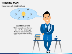 Thinking Man PPT Slide 1