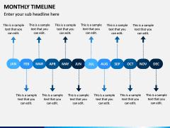 Monthly Timeline PPT Slide 9