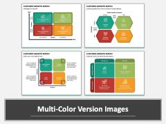Customer Growth Matrix Multicolor Combined