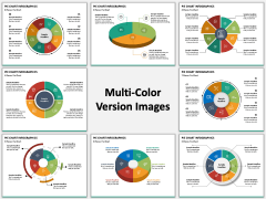 Pie Chart Infographic Multicolor Combined